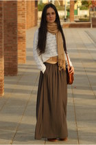 sweater - shoes - bag - skirt