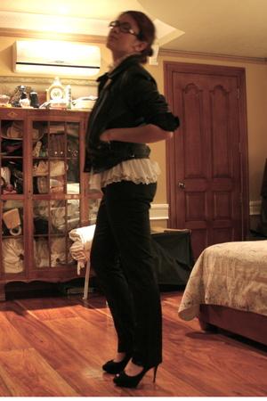 Zara jacket - Tadashi blouse - INC pants - Nine West shoes