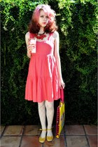 Girl Props necklace - Sugarlips Apparel dress - Forever 21 tights