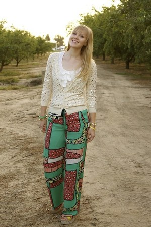 sequin cardigan - mod pants
