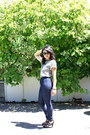 Navy-forever-21-jeans-dark-khaki-cheetah-print-thrifted-top