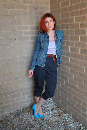 blue denim Ralph Lauren jacket - blue pumps Steve Madden shoes