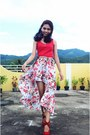 Red-forever-21-top-salmon-wardrobe-check-skirt-red-highstyle-fancy-wedges