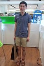 Blue-dean-trent-shirt-beige-topman-shorts-camel-pedder-red-sandals