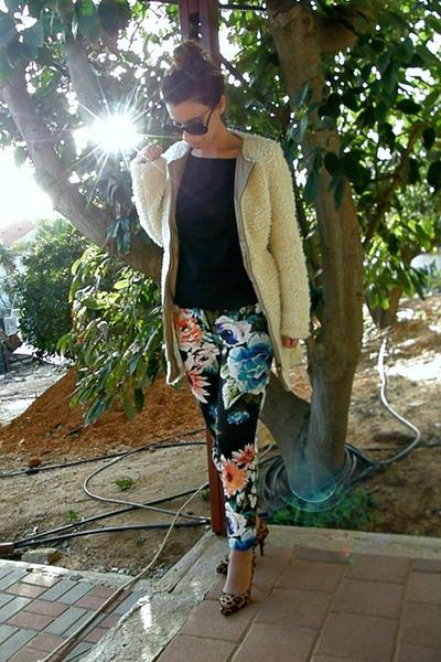 floral H&M pants