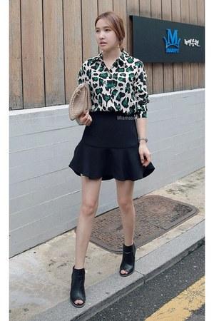 green MIAMASVIN blouse - MIAMASVIN boots - black MIAMASVIN skirt