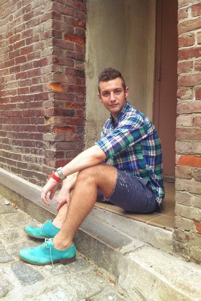 oxford Cole Haan shoes - Polo Ralph Lauren shirt - DIY shorts