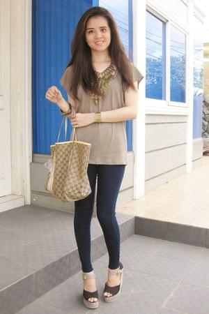 Mango top - skinny Zara jeans