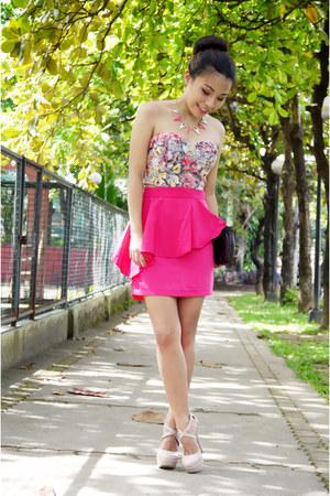 hot pink peplum Bubbles skirt