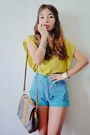 Vintage-fendi-bag-high-waisted-thrifted-vintage-shorts-accessories