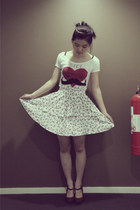 Zara t-shirt - Zara skirt - Topshop heels