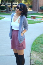 American Apparel top - American Apparel sweater - American Apparel skirt - DIY s