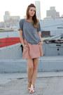 Light-pink-leather-one-teaspoon-skirt