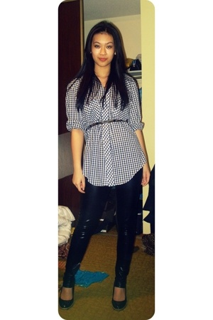 checkered shirt - Belt