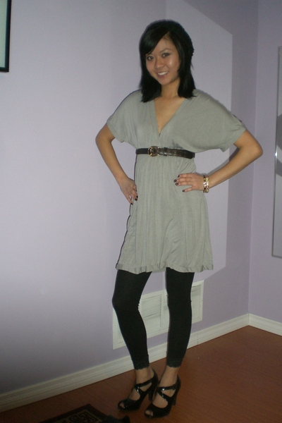 Urban Outfitters hat - Zara dress - moms closet belt - Spring shoes