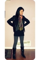 scarf - boots