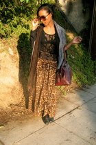 vintage skirt - Vinatge boots - Urban Outfitters scarf