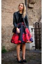 red romwe skirt