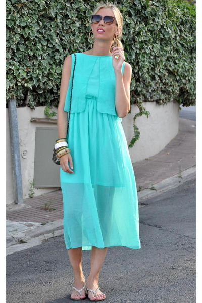aquamarine Zlz dress - camel Zara sandals