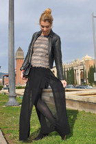black Zara skirt - dark gray Isabel Marant boots - dark gray jacket