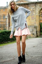 silver Pimkie sweater - pink Pimkie skirt