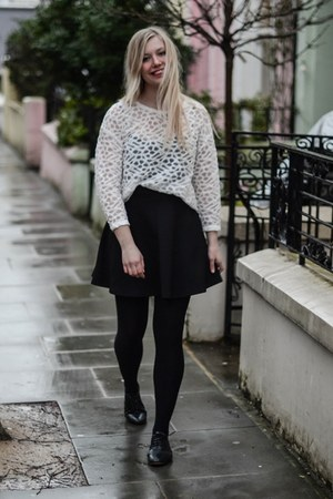 white H&M Trend blouse - black Dororthy Perkins skirt