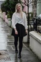 white H&M Trend blouse - black Dororthy Perkins skirt