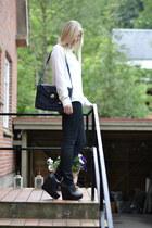 Aldo heels - Vero Moda shirt - vintage bag - H&M pants
