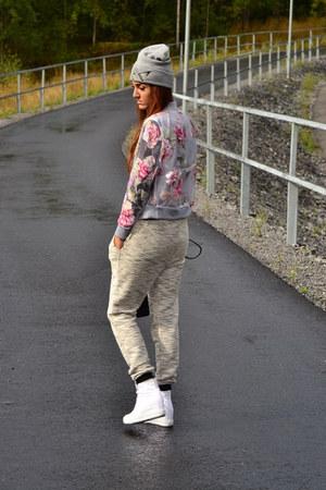 dresslinkcom jacket - H&M hat - black H&M bag - Converse sneakers