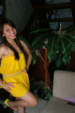 yellow genevieve gozum dress - toeberries flats - Accesoriz bracelet