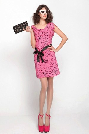 bubble gum 100 silk DG dress - orange 100 silk DG dress