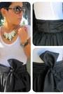Black-diy-skirt-white-forever-21-t-shirt