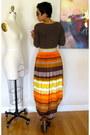Diy-skirt-dark-brown-forever-21-top