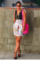 DIY skirt - hot pink coach bag - black Steve Madd heels - black NY & Co top