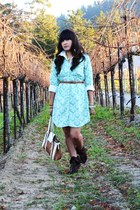 aquamarine Target dress - white American Eagle shirt - brown Guess heels