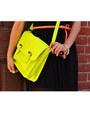 Lime-green-cross-body-target-purse-black-sheer-skirt-forever-21-dress