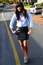 Lace-up-booties-steve-madden-heels-target-mossimo-shirt-thrifted-skirt