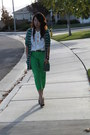 Bronze-calvin-klein-pumps-chartreuse-bcbg-jeans