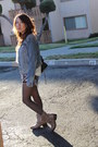 Sky-blue-h-m-hat-beige-reports-boots-navy-h-m-jacket-silver-bebe-shorts