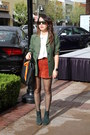 Green-suede-aldo-boots-olive-green-vintage-michael-kors-blazer