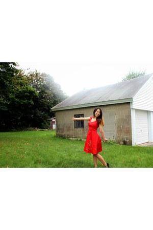 red eShakti dress