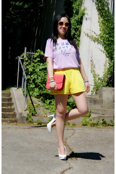 yellow Olivia shorts