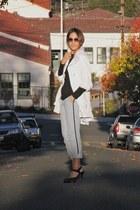 white Walmart jacket - black Gap shirt - light blue asoscom pants
