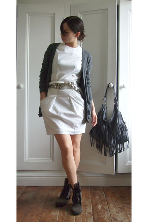Helmut Lang dress - Zara belt - aa sweater - Marc Jacobs shoes