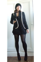 JCrew blazer - Zara shirt - aa dress - Zara hat - Toshop shoes
