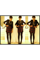 blazer - top - misha skirt