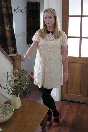 lace asos dress - Primark heels