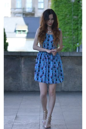 sky blue 6ks dress