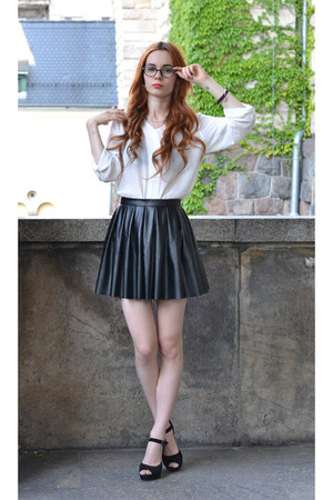 black cocktail shock skirt - ivory BangGood shirt