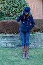 Blue-coach-hat-blue-coach-jacket-blue-7-for-all-mankind-jeans-brown-ariat-